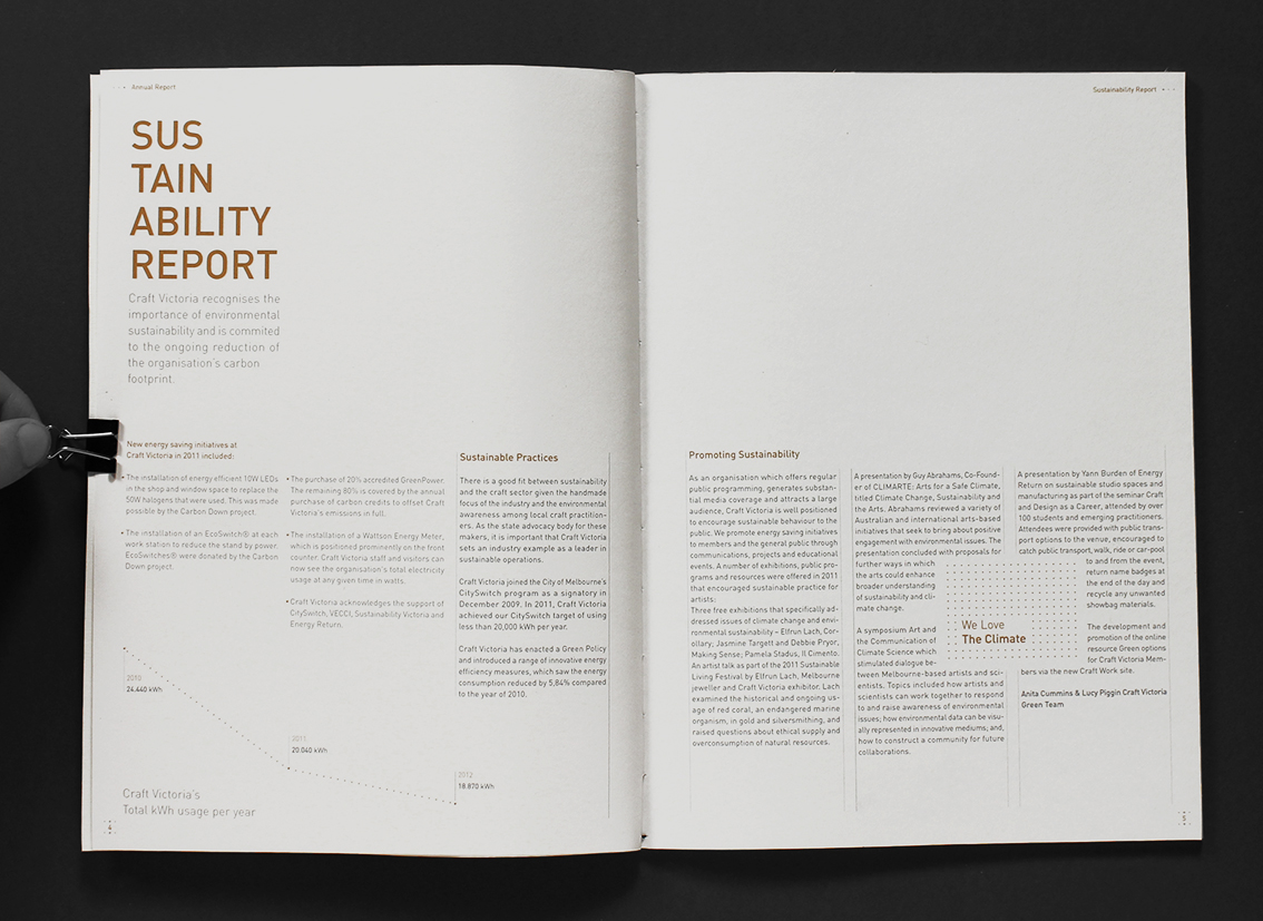 Craft Victoria Annual Report : Conceptual Work | Crunite